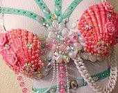 Aqua & Pink Mermaid Bra