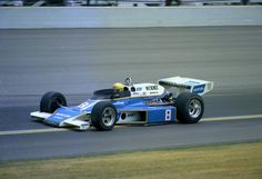 Tom Sneva, driving this McLaren for Roger Penske in 1977, became the first driver to turn an official 200 mph lap at Indy.