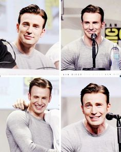 Chris Evans at this year's Comic Con. Ughhh, this man!