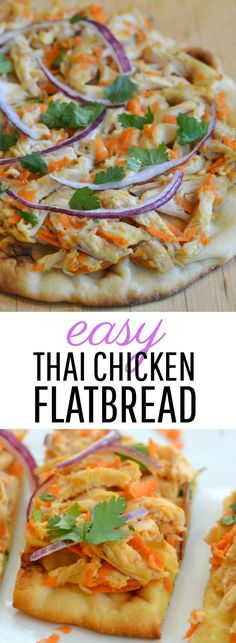 Easy Appetizer | Thai Chicken Flatbread | Party Food | Thai Recipe