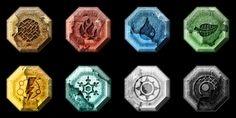 Magia Elemental, Elemental Magic, Elemental Powers, Creature Picture, Wolverine Art, Writing Fantasy, Element Symbols, Game Props, Magic Symbols