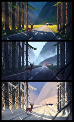 Things maybe I need in the future DONE Landscape Concept, Fantasy Landscape, Landscape Art, Fantasy Art, Digital Painting Tutorials, Digital Art Tutorial, Landscape Drawings, Art Drawings, Landscapes