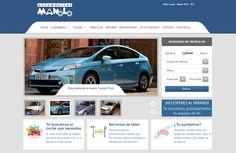 Desarrollo de web de venta de coches de segunda mano multimarca para Automóviles Manolo - Calle Mayor Comunicación y Publicidad