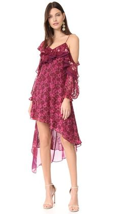 Self Portrait Devore Print Dress
