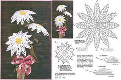 Luty Artes Crochet: Primavera de flores em crochê