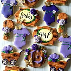 Beautiful Decorated Baby Cookies