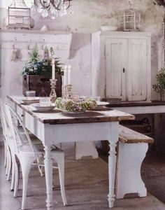 White dining room gorgeousness!