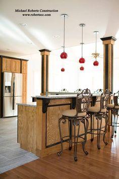 Two-Tone Kitchen #michaelrobertsconstruction #customhomwbuilder #newconstruction #coastalgeorgia #kitchen