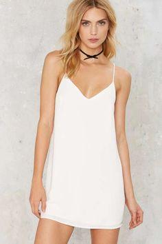 Allegra Mini Dress - White - Clothes