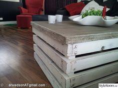 lantligt,betong,trä,chabby,soffbord