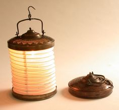 Copper and paper lantern