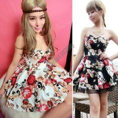 2014 новые весна лето женщин Мода платье мило мяч печати фантазии верхнюю часть пробки рукавов цельный платье Dropshipping b11 SV002816 376,11
