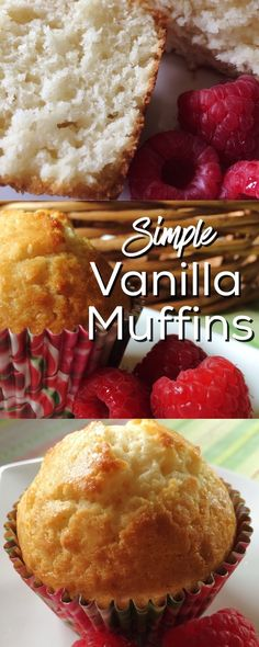 Simple recipe for tasty little vanilla muffins. Makes a great morning treat and smells lovely baking!!