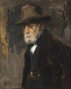 Isaac Israels (Amsterdam 1865-1934 The Hague) Portrait of the artist's father Jozef Israels