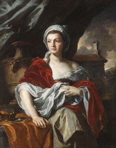 "Title: ""Portrait Of A Woman"" Artist: Francesco Solimena  (1657-1747) Style: Baroque Genre: Portrait Date: c. 1705 Media: Oil on canvas Location: Private Collection"