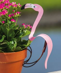Another great find on #zulily! Flamingo Pot Hanger #zulilyfinds