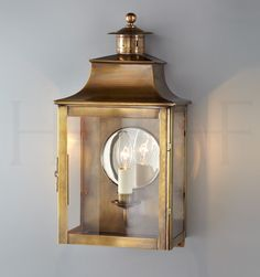 Hector Finch SQUARE LANTERN WITH CHIMNEY AND MIRROR