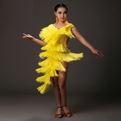 cae67770bbd2 US $59.0 |Aliexpress.com : Buy Adult Girls Latin Dance Performance Costume  Stage Show Clothing Latin Dancing Tassel Dresses Competition Costumes  FY1011 from ...