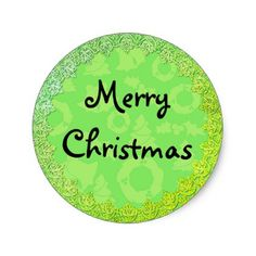 Green Framed Merry Christmas Stickers - craft supplies diy custom design supply special