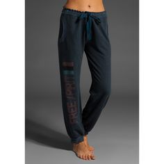 Gypsy 05 Free Spirit Sweat Pant in Indigo ($110) ❤ liked on Polyvore featuring activewear, activewear pants, pants, bottoms, women, revolve clothing, sweats, uncategorized, gypsy05 and loose sweatpants