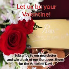 Enter from our homepage pop-up or boutique- sweepstakes page!  2 winners! Win a pair o our Gorgeous Jeweled Shoes for the Valentine�s Day!