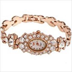 Oval Casing Bangle Bracelet Quartz Wrist Watch With Shining Rhinestones for Women Lady Girl - Golden Bangle Bracelets, Bracelet Watch, Bangles, Lady Girl, Quartz, Rhinestones, Watches, Womens Fashion, Accessories