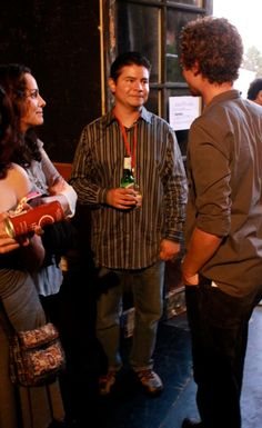 Joey Capone of Carlos Spills the Beans at the DFFLA Awards Party. — at The Hayworth Theater Mainstage.