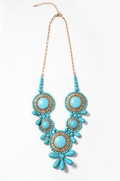 """Turquoise Gypsy Necklace--get 5% off with coupon code """"kwargo"""" at checkout!!"""