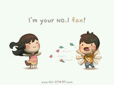 HJ Story - I'm your number 1 fan! See more of HJ-Story. Hj Story, Cute Couple Cartoon, Cute Love Cartoons, Chibi Couple, Cute Love Stories, Love Story, Love Is, True Love, Ah O Amor