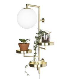 Vegglampe ASTORIA Matt messing / Opal | Kreativ Belysning | Lys og lamper til ditt behov - Nettbutikk
