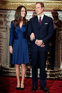 Kate Middleton's blue engagement dress. Like everything else in her closet, love.