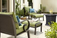 Lowe's Allen + Roth Sunbrella Spectrum Cilanto Deep Seat Patio Chair Cushion