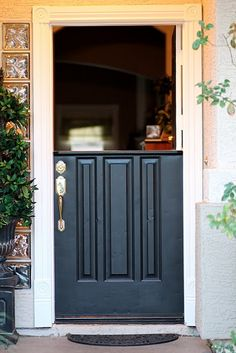 How to Make a Dutch Door ~ I have wanted one of these for soooo long.