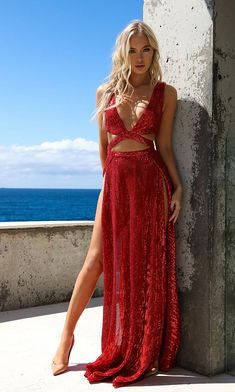 Abyss by abby mia sequin gown-red fashion prom dresses, form Satin Dresses, Sexy Dresses, Evening Dresses, Prom Dresses, Gowns, Formal Dresses, Sexy Outfits, Fashion Outfits, Sequin Gown