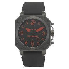 Men's' Wrist Armor U.S. Marine Corps C4 Swiss Quartz Watch - Black, Size: Small