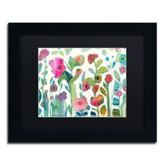 """Trademark Art 'Wild Divinity' Framed Painting Print Mat Color: Black, Size: 16"""" H x 20"""" W x 0.5"""" D"""