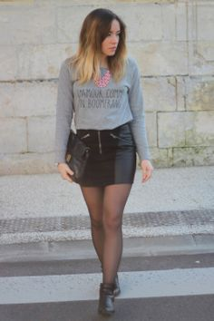 Grey outfit - Big crush for her look #fashionblogger #lapenderie dechloé