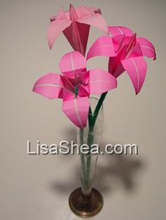 Pink Origami Flower Bouquet
