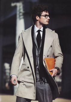Men's winter coat; via Luel magazine Dec/2012, photo: Lim Han Soo