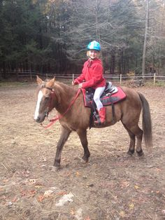 Emma riding Mickey!  Once a slaughter bound horse, now a girls forever best friend.