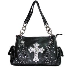 Black Rhinestone Cross Cowgirl Purse $34.99...GORGEOUS!