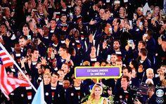 Abertura das Olimpíadas 2016 - Estádio do Maracanã -ESTADOS UNIDOS DA AMÉRICA