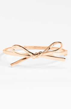Pretty bow rosegold bangle