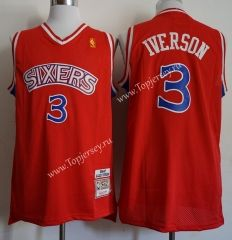bc5c81c70cc Philadelphia 76ers Printing Red #3 NBA Jersey