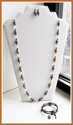 Multicolored Necklace Set Paper Bead by FeithHodgeCreations, $40.00