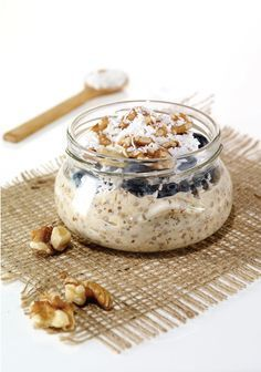 Diet Meals Prep Breakfast Overnight Oats Ideas For 2019 Eating Too Much Protein, Good Morning Breakfast, Oatmeal Recipes, Snacks, Overnight Oats, Diet Recipes, Diet Meals, Coco, Food Inspiration