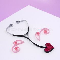 quilling stethoscope nurse doctor heart
