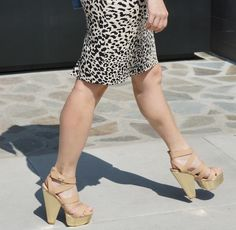 nude shoes from shoe dazzle with floral top and LOFT animal print skirt #ootd #street styleE #stylist #lmmh