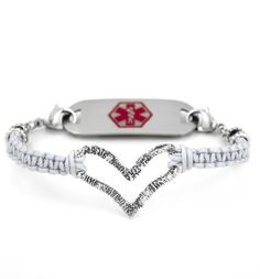 Full Heart Medical ID Bracelet.  I so want this for Christmas!  7.5 inches.