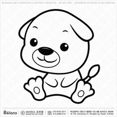 Black and white dog, white dogs, zodiac characters, chinese zodiac signs, line